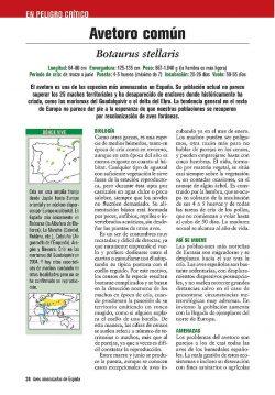 Aves amenazadas de España sample page