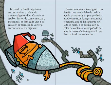 El camaléon enfadado sample page