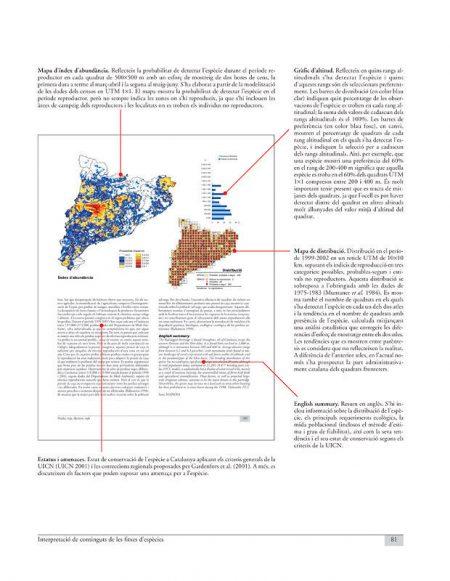 Atles dels Ocells nidificants de Catalunya 1999-2002 sample page